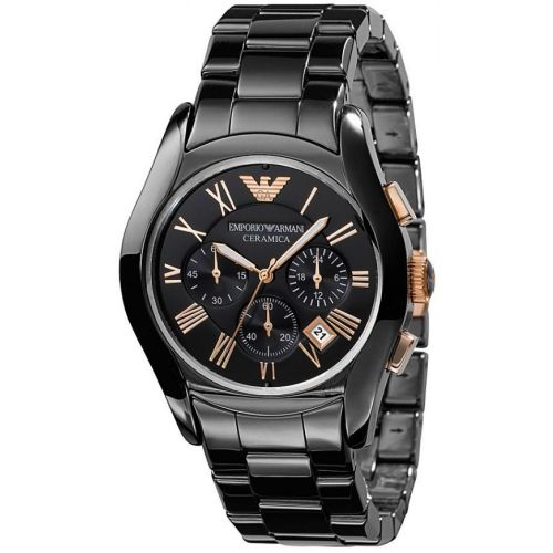 Emporio ARMANI Ceramica Black Ceramic Chronograph Watch AR1410